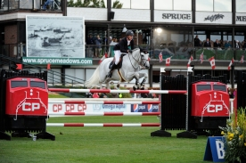 during the CP International Grand Prix at the Spruce Meadows Masters.